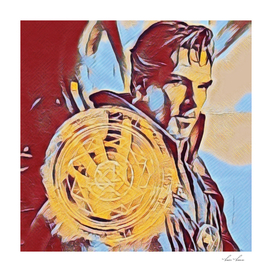 Dr Strange Magic Artistic Illustration Complementary