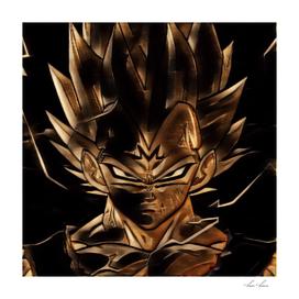 Dragon Ball Vegeta Artistic Illustration Energy Style