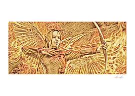 Hunger Games Katniss Artistic Illustration Matches St