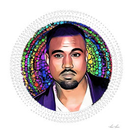 Kanye West Chic Art Effect Man Complete Circle