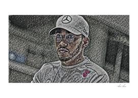 Lewis Hamilton Artistic Illustration Bubble Wrap Styl