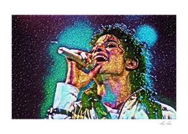 Michael Jackson Artistic Illustration Gems Style