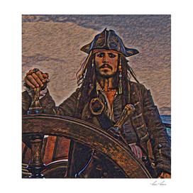 Pirates of the caraibbean Jack Sparrow Artistic Illus