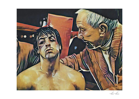 Rocky Balboa Artistic Illustration Mexican Outline St