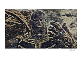 Thanos Artistic Illustration Floor Stones Style