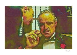 The Godfather Artistic Illustration Mafia Style1