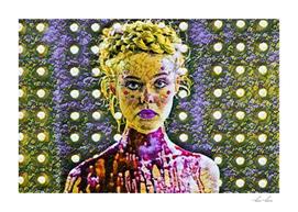 The Neon Demon Artistic Illustration Flowers Style