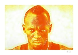 Usain Bolt Ready Artistic Illustration Explosion Styl