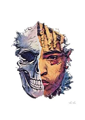 XxxTentacion Skull Morph Memorabilia Unforgettable Cu