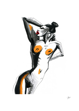 Female silhouette, corporeality