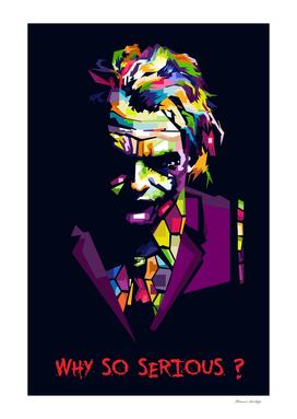 Heath Ledger (Joker) WPAP Pop art