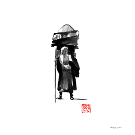 posing monk