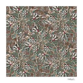 Modern Floral Collage Pattern Design