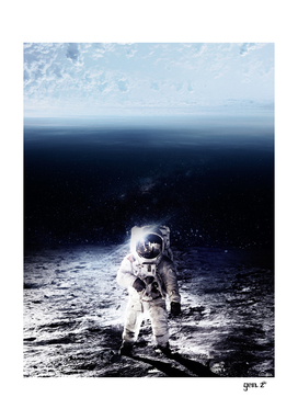 Space upside down Astronaut