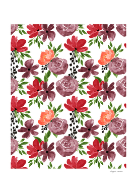 Colorful Rose Floral Pattern