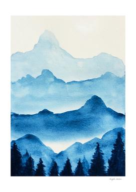 Blue Morning Landscape
