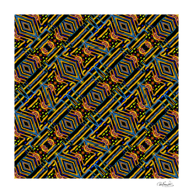 Electric Neon Lines Pattern Design