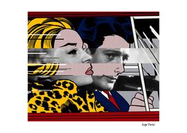 Roy Lichtenstain's In the Car & Marcello Mastroianni