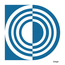 Modern abstract geomteric art -  optical illlusion