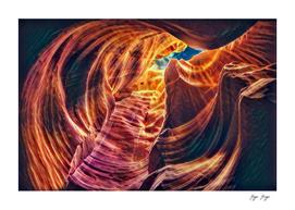 Antelope Canyon Desert Multicolored Light Sandy Rocky