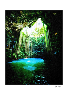 Cenotes Cave Natural Flooded tropical bath cave Flowe