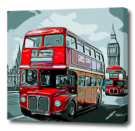 Double-Decker Bus double floor driving right Anglopho