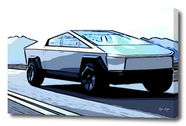 Future Car Concept angular pointed without driver Bul
