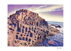 Giant's Causeway natural parallelepipeds random crea