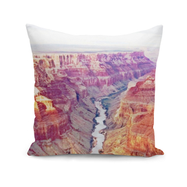 Grand Canyon reddish soil eroded river millions years