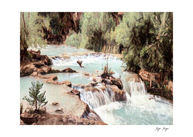 Havasu Creek Holiday pebbles jumping river fishing ho