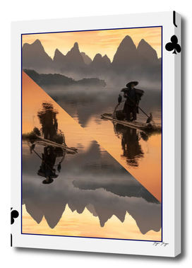 Li River board game card trunk boat navigator