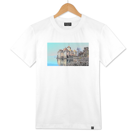 Mont-Saint-Michel strongly defined faded condensing o