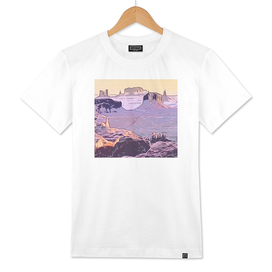 Monument Valley stereotypical two-tone violet Cubic l