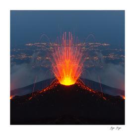 Mount Vesuvius Volcano lava spikes gushes fire erupts