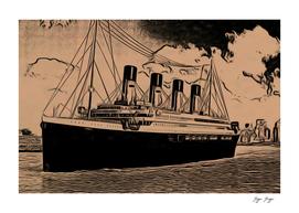 Titanic yellowed plastic tragedy turistic trip advise
