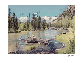 Yellowstone National Park public open woodcut pine co