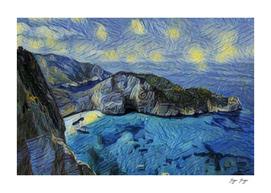 Zakynthos starry night gogh stars basin climber pic