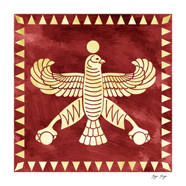 Achaemenid Flag Empire Epic Purpura Historic Eagle Cr