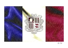 Andorra Flag Mixture Color Pencil Victorian Fashion L