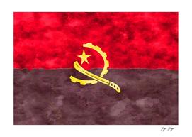 Angola Flag Restored Material Used 4k Machete Engine