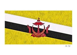 Brunei Flag Asian Oriental Texture Hands Object On