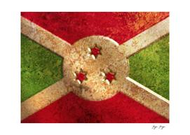 Burundi Flag Iron Commemorative Engine External Cover