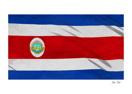 Costa Rica Flag Drawing Colors Side Sticker Power