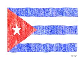 Cuba Flag Simple Pastel Color Draw Trace Path