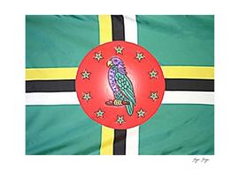 Dominica Flag Plastic Bird Commercial Portrait Store