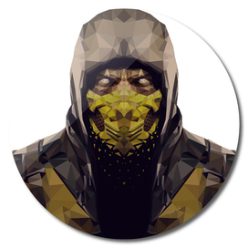 Scorpion Lowpoly style