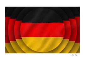 Germany Flag 3d Piece Circle Sticker Hypnotic Shadow