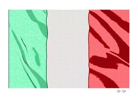 Italy Ireland Flag Ordinary Marking Pen Used Fabric