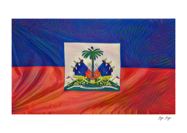 Liechtenstein Flag Stylish Elongated Lines Chic Cash
