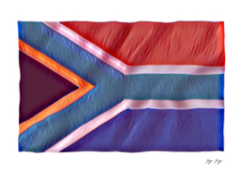 South Africa Flag Standard Dimension Wind Steam